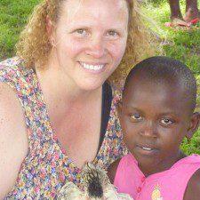 Donna Foley US representative for UORDP and child.