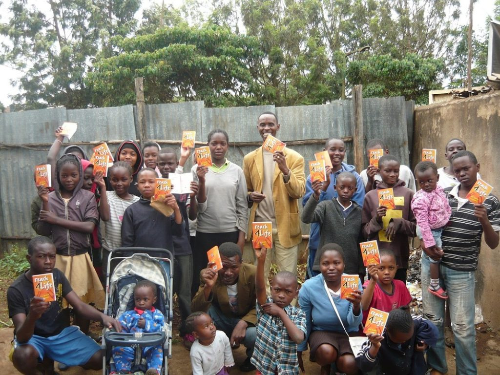 Group receives study bibles.