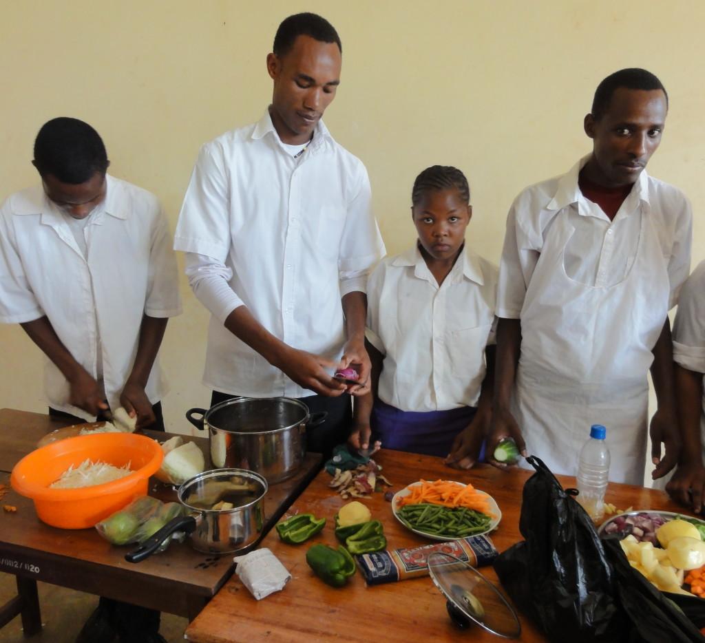 Cullinary skills training at the Karatu Vocational School, TZ.
