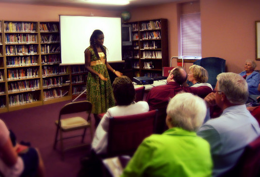 Emmanuela sharing the CTCC vision with supporters
