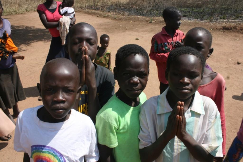 Children in Cameroon Praying