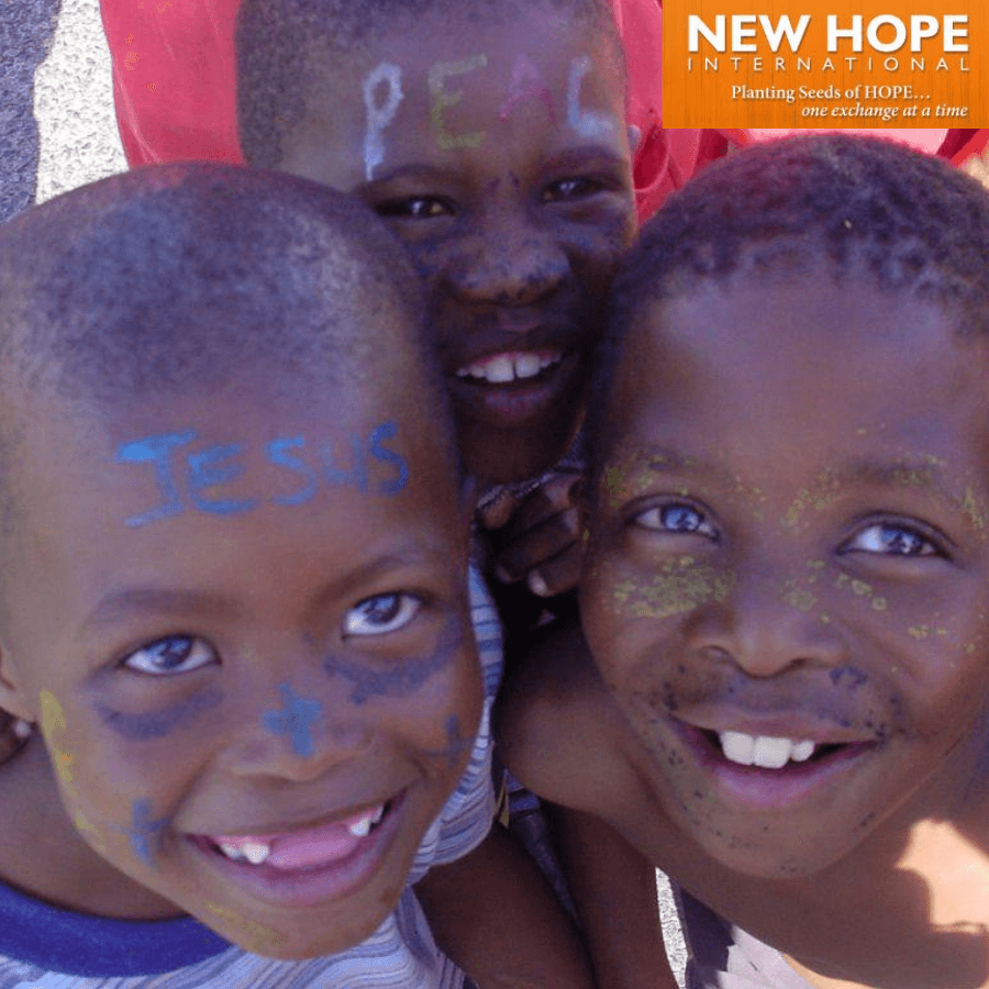New Hope logo with 3 boys