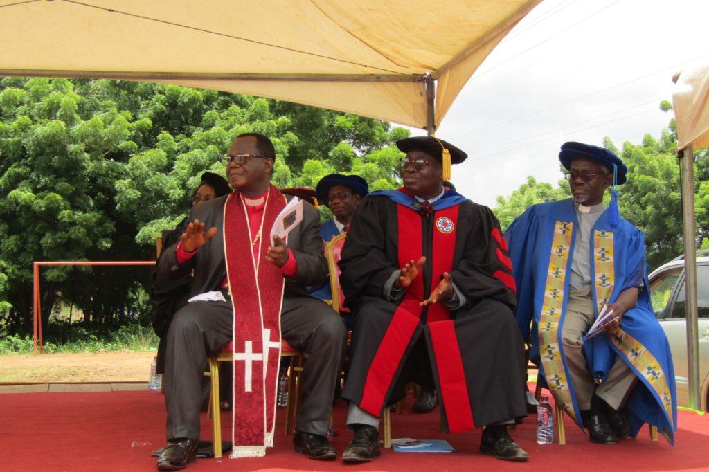 Rev. Prof. Thomas Oduro, middle.