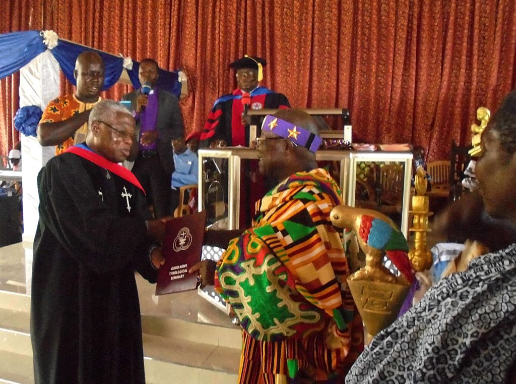 Traditional Ruler graduating from seminary.