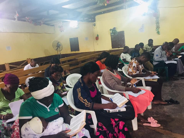 Parents in North Cameroon participate in training.