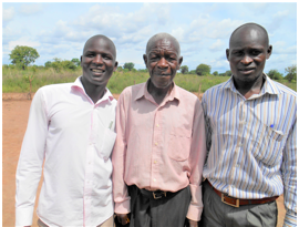 Pastor Jimmy with his dad and brothers.