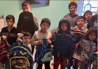 Kids received donated backpacks!