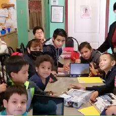 Tablets were donated for the kids' schoolwork!
