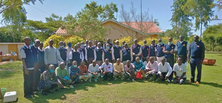 Men's leadership training on ending violence.