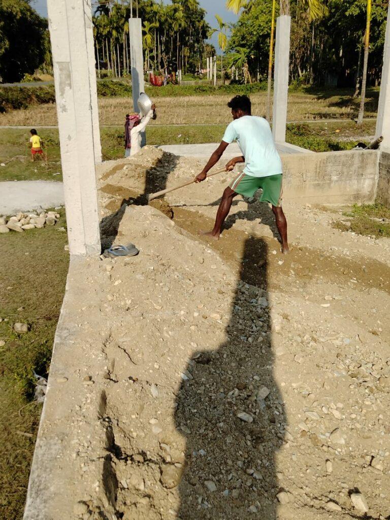 Church construction.