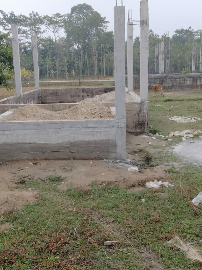 Progress on church construction.