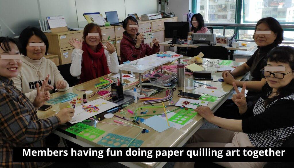 Paper Quilling at Susan's workshop.