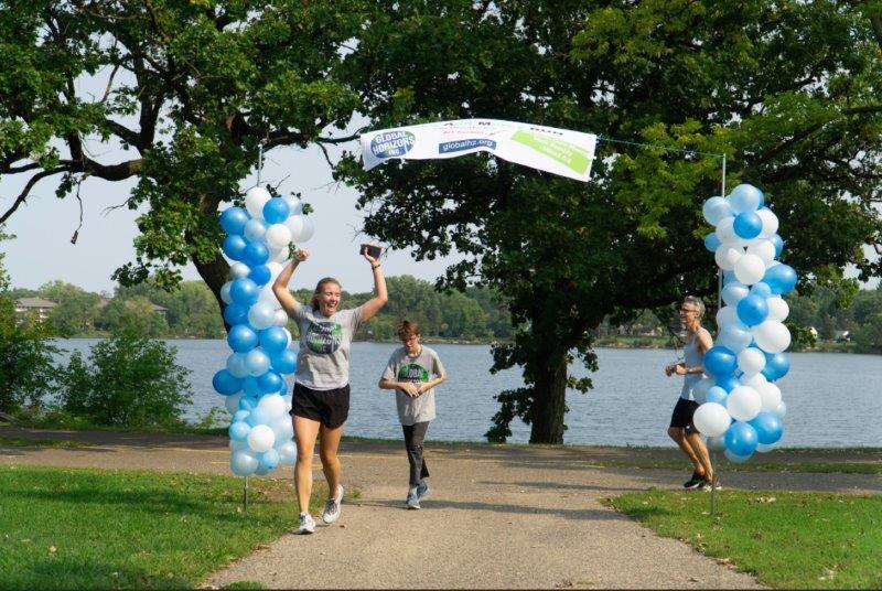 JAM Run - Anna, Tim, and son finish
