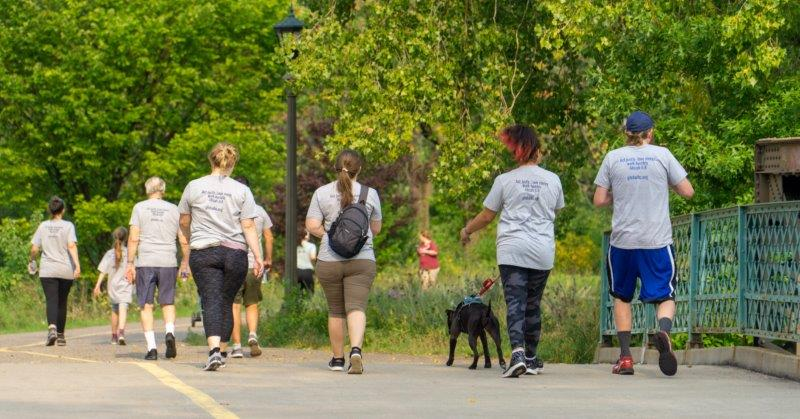 JAM Run - backs of walkers