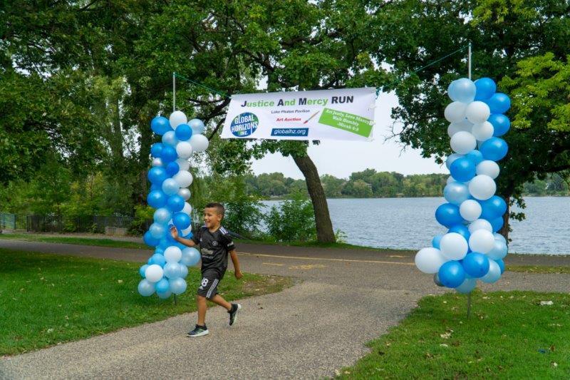 JAM Run - grandson finishes