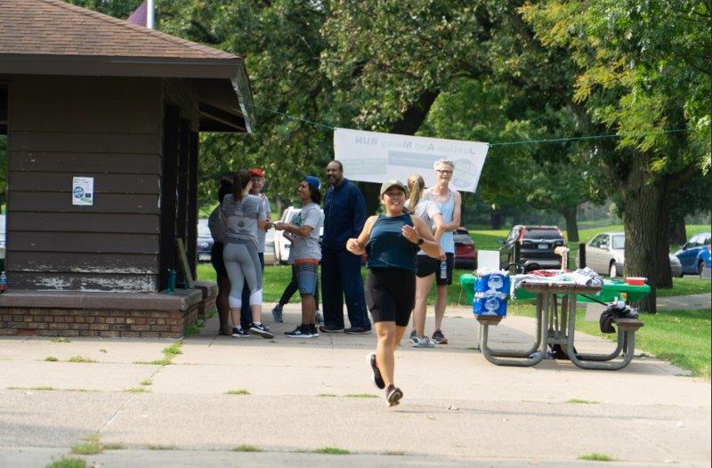 JAM Run - runner at pavilion